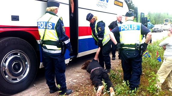Våldsamma poliser