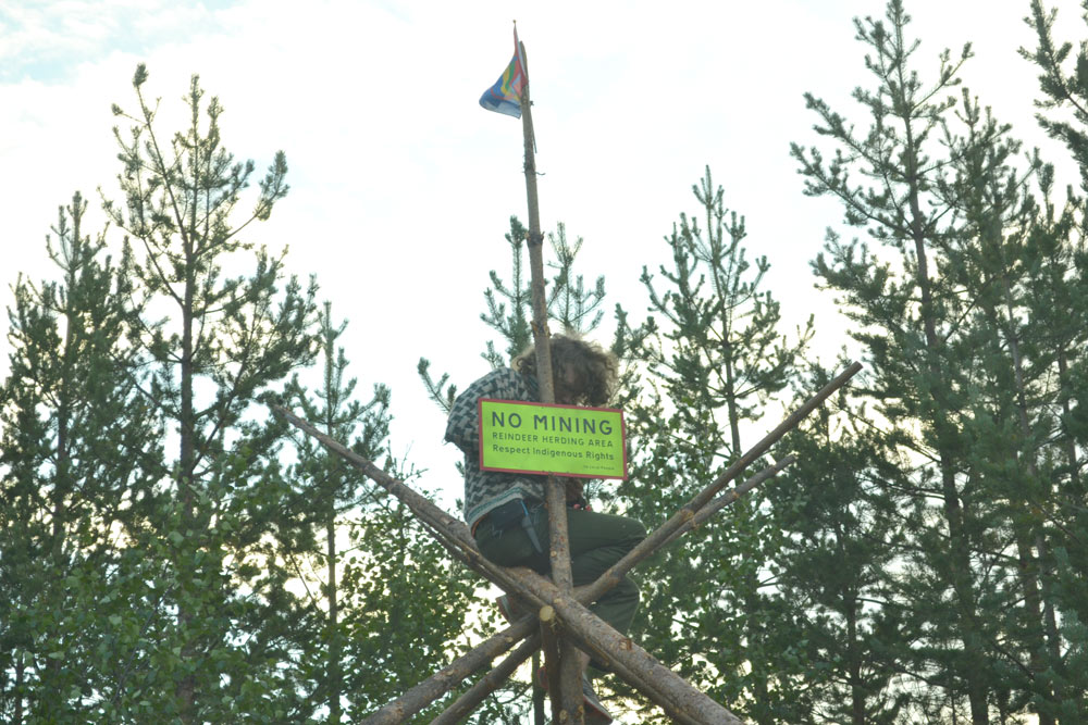 Reindeer herding area. Respect indigenous rights /us local people